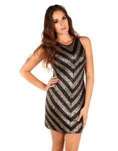 Tribeca Exchange | Geo-pattern sequin dress
