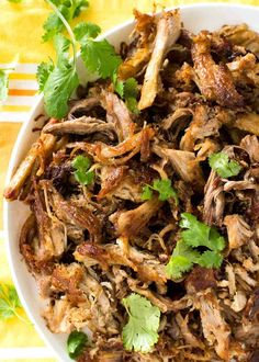 (Mexican Slow Cooker Pulled Pork) Overhead shot of crispy golden and juicy Pork Carnitas .Overhead shot of crispy golden and juicy Pork Carnitas . Slow Cooker Recipes, Cooking Recipes, Healthy Recipes, Cooking Broccoli, Cooking Fish, Cooking Bacon, Juice Recipes, Smoothie Recipes, Delicious Recipes