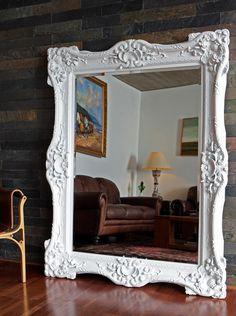 Modelo Paris - Blanco www.circunflejo.cl Decor, Furniture, Oversized Mirror, Deco, Home Decor, White, Mirror