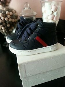 07c91b7a62801 GUCCI AUTHENTIC BABY BOY INFANT TODDLER SNEAKERS SHOES 21G US 5  245 pls tx