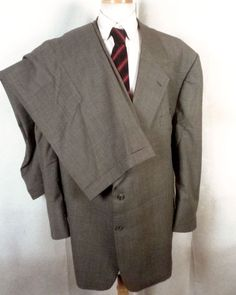 8dd7094a2 NWOT Coppley for Holley's Bespoke Gray Wool Men's 2 Pc Business Suit big 58  R #