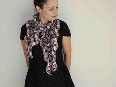 stretchable ripples scarf Robyn by FlyingFishForHer on Etsy