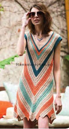 Летнее платье вязаное крючком (Seaside Dress) Black Crochet Dress, Crochet Cardigan, Moda Crochet, Knit Crochet, Interweave Crochet, Diy Crafts Crochet, Crochet Woman, Diy Dress, Crochet Fashion