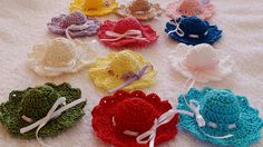 Items similar to Baby shower favors Wedding favors Crochet hat favors Girls party favors girls birthday favors crochet favors kids party favors baptism on Etsy Baby Shower Favors, Crochet Earrings, Applique, Trending Outfits, Hats, Mini, Unique Jewelry, Handmade Gifts, Vintage