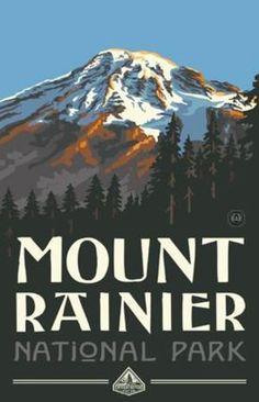 www.theparksco.com: Mount Rainier National Parks Poster
