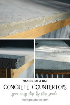 Grab these free DIY Bar Stools plans from Bitterroot DIY. Outfit your new countertop with quick, easy custom built bar stools. Bar Countertops, Diy Concrete Countertops, Countertop Materials, Concrete Bar Top, Diy Bar Stools, Backyard Bar, Wedding Backyard, Backyard Ideas, Man Cave Home Bar