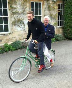 Chris Martin with dad.