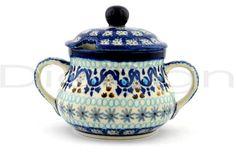 Polish Pottery Stoneware SUGAR BOWL