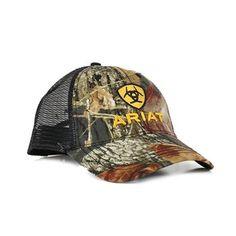 Ariat Men's Camo Embroidered Trucker Hat