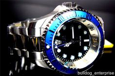 Mens Invicta Reserve Hydromax 52mm Blue Black Stainless Steel GMT Watch