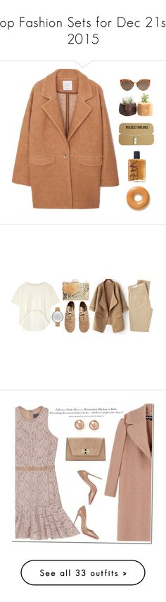 """""""Top Fashion Sets for Dec 21st, 2015"""" by polyvore ❤ liked on Polyvore featuring MANGO, NARS Cosmetics, Oak, Glint, Skagen, H&M, AG Adriano Goldschmied, Bloomingdale's, Lanvin and Rochas"""