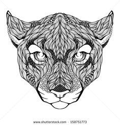 japanese puma tattoo - Google Search