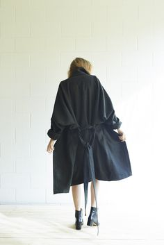 Miss Crabb - Modern Times Coat Black Twill