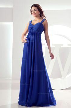 Straps graceful crossed ruffle top floor length dress
