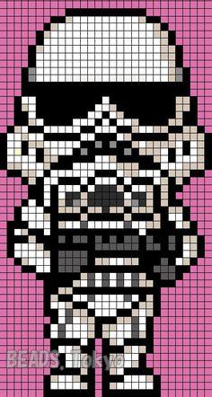スターウォーズ「ストーム・トルーパー」のアイロンビーズ図案を作った!明日(12/26)に念願のスターウォーズ …