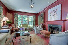 Mandy Culpepper Interior Design - A beautiful living space featuring Anne Irwin Fine Art gallery artist, Michael Dickter above mantle