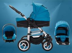 Bebebi | Model Paris | 3 in 1 Pram & Pushchair Set | Air wheels | Color: Louvre