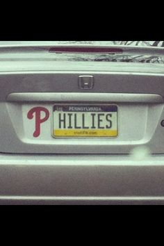 Cool idea. I've never seen this before.. I guess you hope nobody takes your Phillies magnet off your car