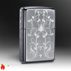 Zippo Black Ice Filligree Design este un model de colectie, o bricheta Zippo eleganta, cu un finisaj negru de oglinda. Bricheta are gravat pe toata suprafata ei un model filigran in stil western.