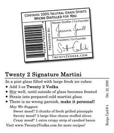 Signature Martini