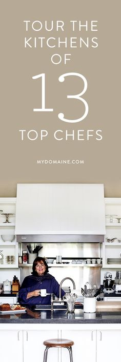 Inside the actual kitchens of these big-time chefs Kitchen Interior, Home Interior Design, Kitchen Design, Kitchen Decor, Kitchen Pantry, Kitchen And Bath, Chef Kitchen, Celebrity Kitchens, Celebrity Houses