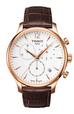 Tissot Tradition Rose Gold PVD Men's Quartz Classic Chronograph Watch