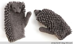Hedgehog mittens It's in Russian but the pics are pretty self-explanatory.