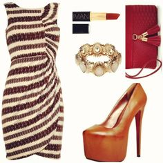 The Tribal Line  *This entire look comes in under $175 and the dress is available in sizes 6-18.  Dress: Dorothy Perkins  Shoes: Boohoo  Clutch: New Look  Bracelet: River Island  Lipstick: IMAN Cosmetics