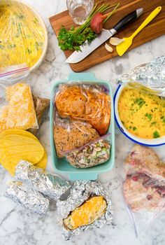 A Week of Dinners from the Freezer