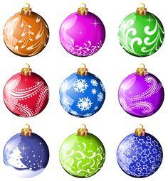 Transparent Gold Christmas Ball Clipart | Imágenes navidad ...
