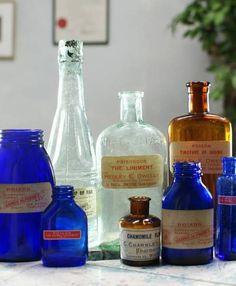 イギリスアンティークガラスボトル薬品ラベル等8本1002 Antique glass bottles ¥10000yen 〆04月11日