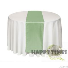 20 Pieces  Sage Green Table Runner For Round Table Table Linen Wedding Satin Table Ribbon Shiny Satin Fabric Free Shipping US $49.00