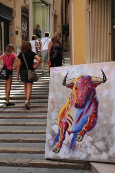 Painting in Palma