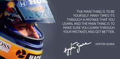 Motivation quote from Ayrton Senna
