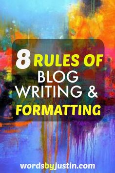 While there are no formally written rules of blog writing and formatting, to get best results from your blog in terms of traffic you'll need to know that there are certain differences in writing for digital as opposed to printed media. #blogger #blogtips #blogadvice #bloggingtips #bloggers #socialmedia
