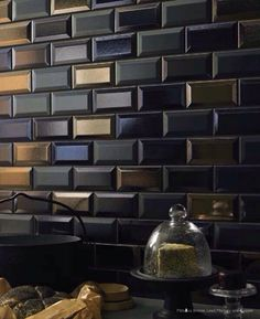 Tile in shades of black