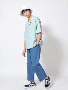オープンカラーシャツ この夏1番の注目アイテム、 オープンカラーシャツを使った コーディネー