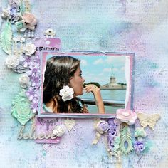 a mixed media layout by Agnieszka Bellaidea for 13arts