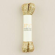 J.Crew's glittery gold laces.