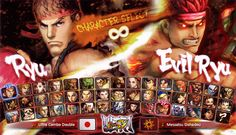 Concept suggestion for Ultra Street Fighter 4's character select menu