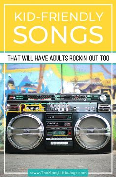 If you love listening to music with your kids but you cant stand the thought of hearing Wheels on the Bus one more time this playlist is for you. Its packed with kid-friendly songs that wont drive adults crazyperfect for your next family dance party. Party Music Playlist, Dance Playlist, Classroom Playlist, Playlist Ideas, Music For Kids, Kids Songs, Music Mood, Listening To Music, Dance Party Kids