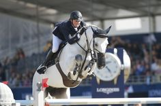 Britain's Ben Maher and Cella, took the Longines Global Champions Tour Grand Prix of London
