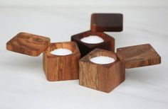 Salt Cellar with Lid, The Wooden Palate Wooden Plates, Wooden Bowls, Small Wood Projects, Wood Creations, Wooden Kitchen, Dose, Made Of Wood, Wood Boxes, Wood Design