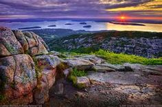 Acadia's tallest mountain and the highest point on the Atlantic Coast, the 1,530-foot peak of Cadillac Mountain is known as the first spot the sunlight hits the U.S.  Hike or drive to the top for views of Bar Harbor, the Porcupine Islands and Frenchman Bay. @Megan Burns get ready for our next sunrise trip!!