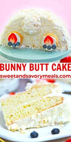 Bunny Butt Cake is the perfect Easter dessert, very easy to make and to assemble, without special pans or equipment. #easterdesserts #easterrecipes #bunnycake #bunnybuttcake #sweetandsavorymeals Bunny Butt Cake - Sweet and Savory Meals Easy Pie Recipes, Bakery Recipes, Best Dessert Recipes, Keto Desserts, Cheesecake Recipes, Cupcake Recipes, Cupcake Cakes, Spring Recipes, Easter Recipes