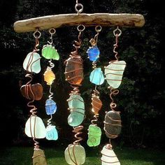 Colgante de piedras, super decorativo y fácil de hacer