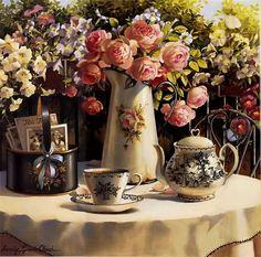 Comfort, tea roses. Sandy Lynam Clough .. Comments: LiveInternet - Russian Service Online Diaries