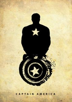 captain america2 750x1067 Silhouetted Superheroes