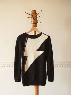 Graphic Jumper in Black And White Orco Handmade by Wonderhand, $129.00
