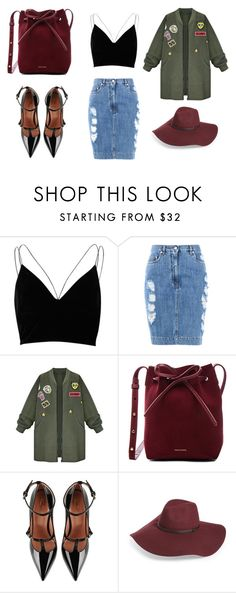 """""""SoDominative"""" by monna-i ❤ liked on Polyvore featuring River Island, Moschino, WithChic, Mansur Gavriel, RED Valentino and Halogen"""